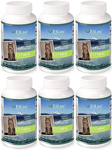 E3 Feline (Fresh-Frozen) AFA superfood for cats, 16 oz / 6 Packs by E3Live