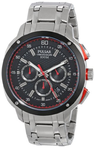 (Pulsar Men's PT3395 Analog Display Japanese Quartz Silver Watch)