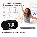 USCCE Small LED Digital Alarm Clock with