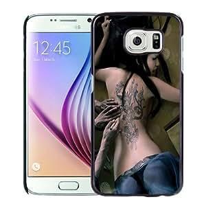 Beautiful Custom Designed Cover Case For Samsung Galaxy S6 With Girl Tattooed Phone Case WANGJING JINDA