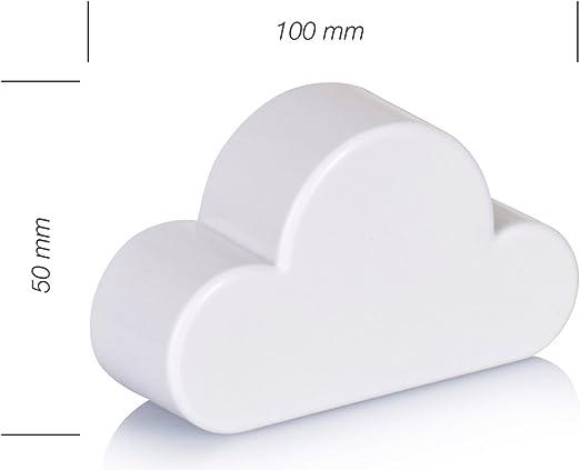 Bianco Design Nuvola 10 x 6 x 3 cm Supporto autoadesivo per chiavi Grinscard Pannello magnetico portachiavi