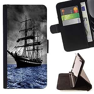 Momo Phone Case / Flip Funda de Cuero Case Cover - SKOONAR VIEJOS SEAS VELERO - Samsung Galaxy Note 4 IV