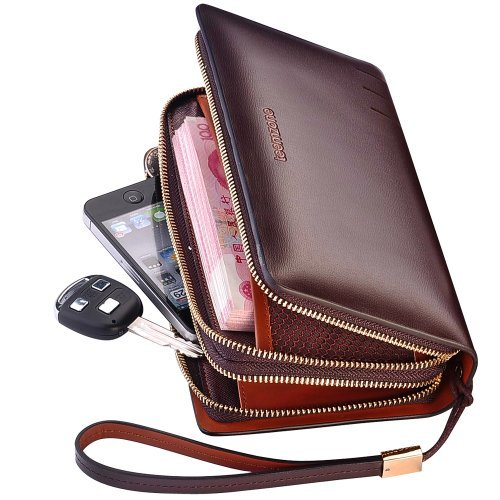 Teemzone Mens Business Stylish Urban Genuine Leather Orga...