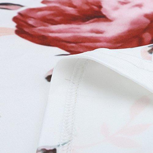 Longue Robe lgant Plage Crayon Jupe Vtements Jupe Mode Vintage Imprime Casual Jupe Chic Basse Bohme Blanc Sunenjoy Taille Femme 5xaOvn