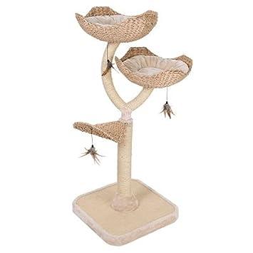 Zooplus Gato árbol Flores Camas Chic Sisal Envuelto pilares Scratch Alfombrilla: Amazon.es: Productos para mascotas