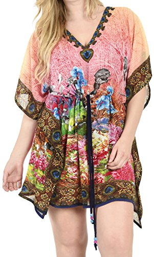 Designer Kimono Beach Swimwear Swimsuit Bikini Cover Up Chiffon Caftan L -4X Valentines Day Gifts 2017
