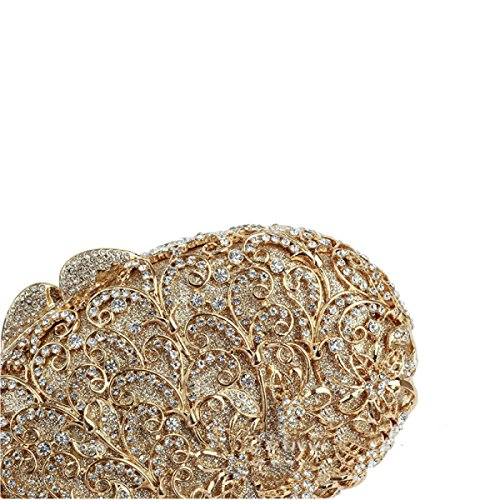 Gamme Yellow De Sac Haut Soirée Creux Luxe D'embrayage Femmes Diamants 0zSwq