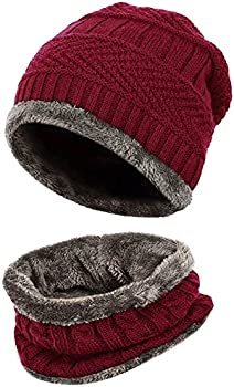 Loritta Men Beanie Hat Scarf Set