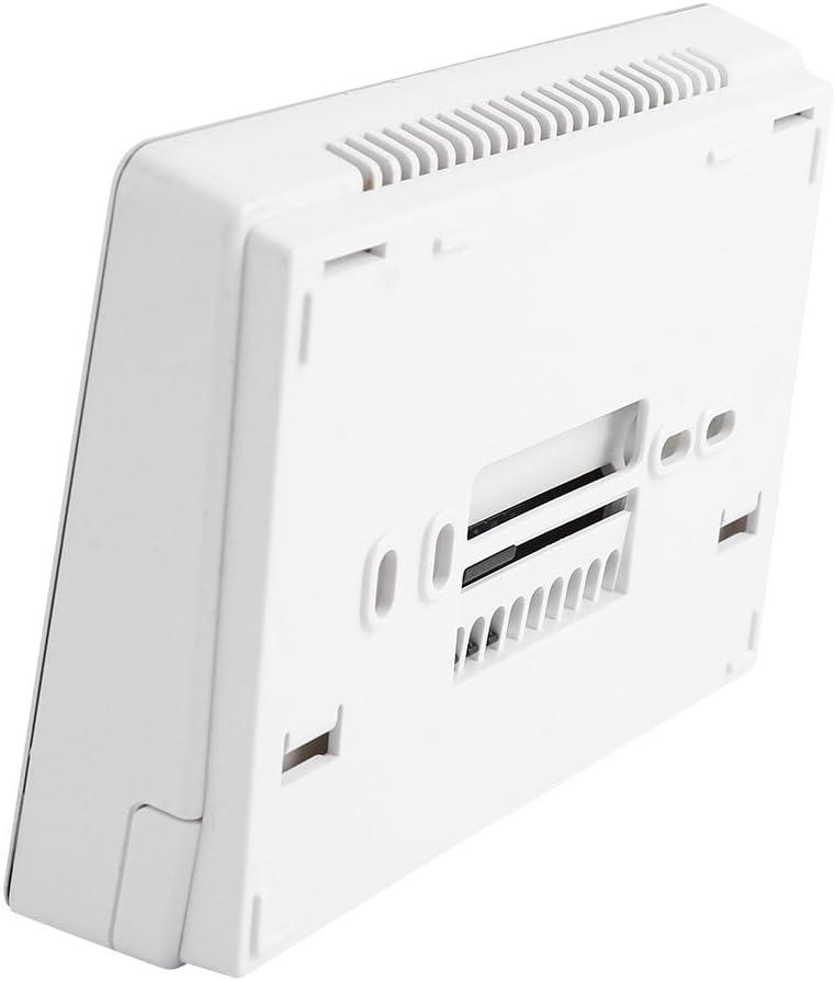 Digitaler programmierbarer Thermostat Temperaturregler Thermostat-Temperaturregler f/ür wandh/ängendes Kessel-Heizsystem Schwarz