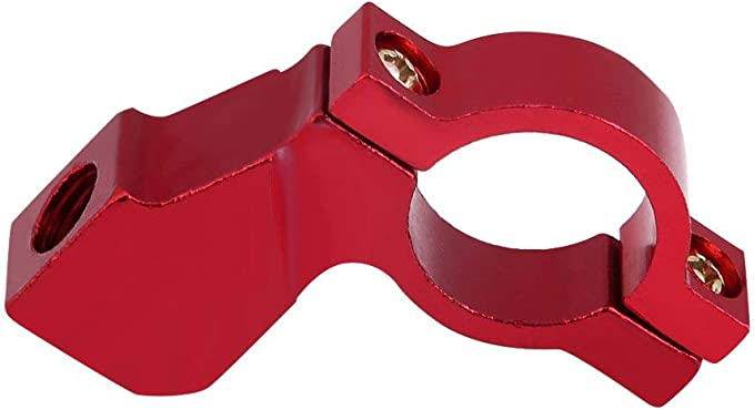 10mm Motorrad Rückspiegel Halterung Lenkerhalterung Spiegel Adapter Halter Clamp 5 Farben Rot Auto