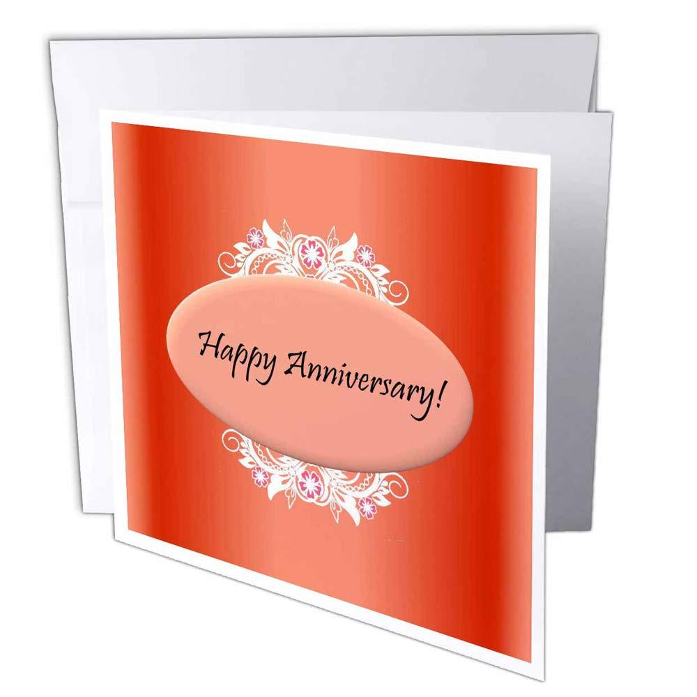 3dRosa gc_38845_2 Grußkarten rot Happy Anniversary , 15 x 15 15 15 cm, 12 Stück B07BJCGFFF   Großer Räumungsverkauf  02d660