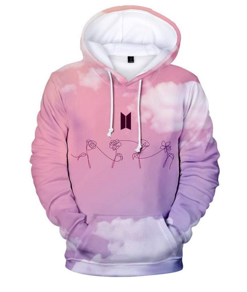 INSTO Pullover BTS Digitaldruckmuster Plus Samt-Hoodie