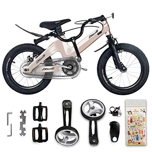 Nice C BMX Kids Bike with Dual Disc Brake for Boy and Girl 12-14-16-18 inch Training Wheels (14'' Champagne) by Nice C (Image #5)