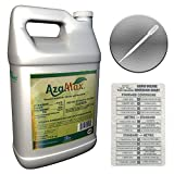 GENERAL HYDROPONICS AZAMAX HYDROPONIC PESTICIDE PEST CONTROL + Twin Canaries Chart & PIPETTE - 1 GAL GALLON
