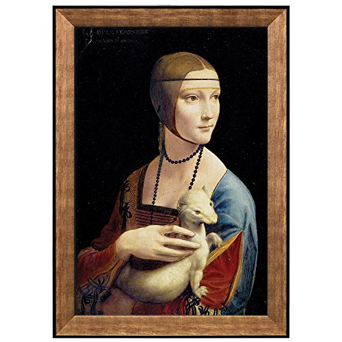 Lady with an Ermine by Leonardo Da Vinci Framed Art
