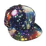 TopTie Unisex Snapback Hat / Flat Bill Baseball Cap, With Space Galaxy Printed
