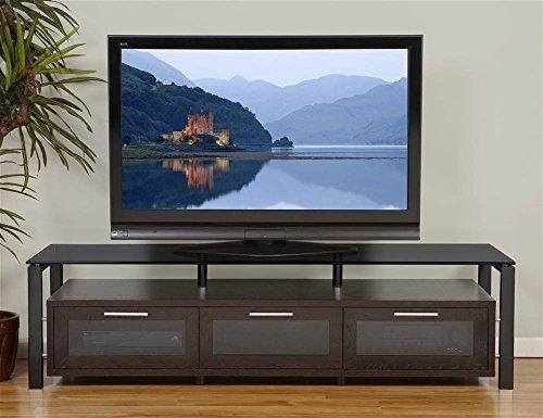 (Plateau Decor 71 (E)-B-BG Wood and Glass TV Stand, Espresso)