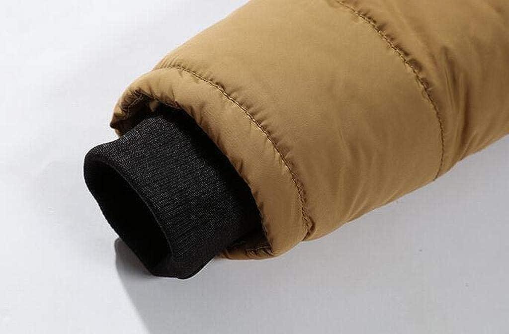 MOUTEN Mens Winter Fleece Lined Faux Fur Hoodies Warm Down Quilted Jacket Coat Outwear