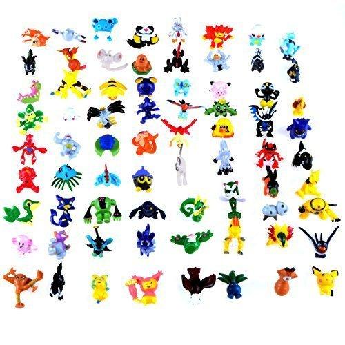 Pokemon Kids Mini Figures (Generic Mini Cute Pokémon Random Pearl Figures (72)