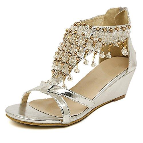 toe peep Chanclas señoras verano sandalias zapatos sandalias bajos heelsWomen zapatos LI Alto BAJIAN FXpg6wUqF