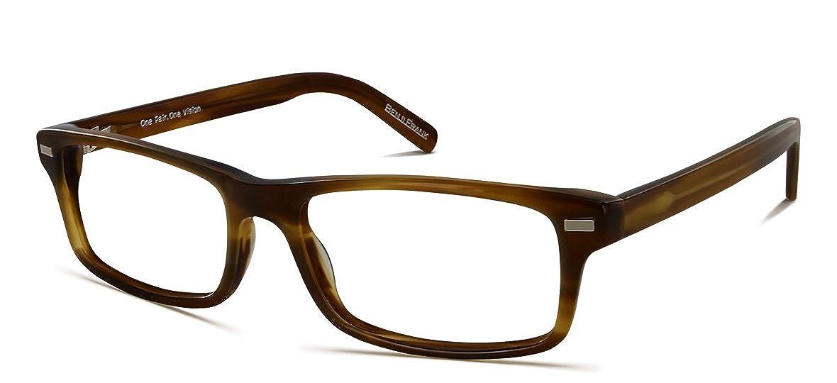 Benji Frank Polk Black Rectangle Medium Size Nerdy Chic Design Eyeglasses Retro Vintage Eyewear