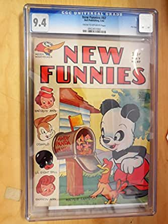New Funnies #87 CGC 9.4 Cream/Off White Pages Dell File Copy