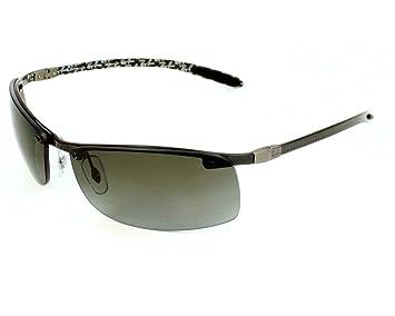 8e0e2fdbe0 Ray Ban Sunglasses RB 8305 RB8305 122 T3 Carbon Fibre Grey Grey polarized
