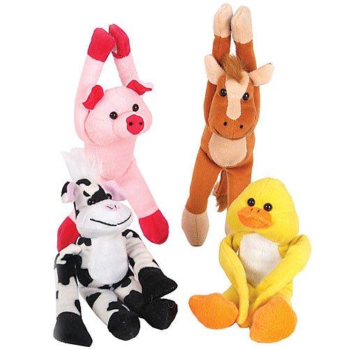 Lot Of 12 Assorted Design Barnyard Farm Plush Stuffed Animals - (Farm Stuffed Animal Collection)
