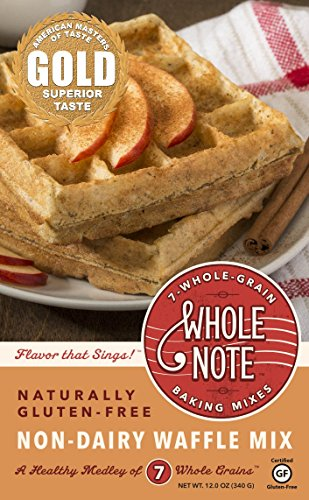 Whole Note 7-Whole-Grain, Non-Dairy Waffle Mix, Naturally Gluten-Free (Pack of 3) ()