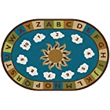 Carpets for Kids 94706 Sunny Day Learn and Play Kids Rug Size: Oval 6' x 9' 6' x 9' , 6' x 9' , Blue