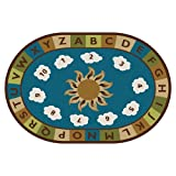 Carpets for Kids 94704 Sunny Day Learn and Play Kids Rug Size: Oval 4' x 6' 4' x 6' , 4' x 6' , Blue