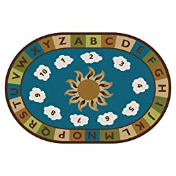 Sunny Day Learn and Play Kids Rug Rug Size: Oval 4\' x 6\'