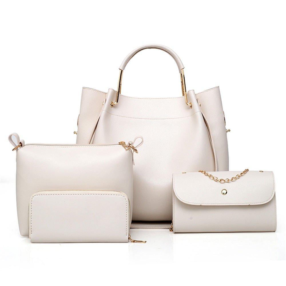 Handbag Large Capacity Single Shoulder Bag,Rice White,Four Piece Suit