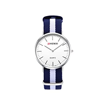 Damen Herren Unisex Nylonband Armbanduhr Herrenuhr Damenuhr Schlicht