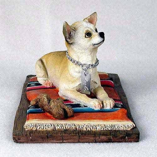 (Chihuahua Figurine White-Tan MyDog)