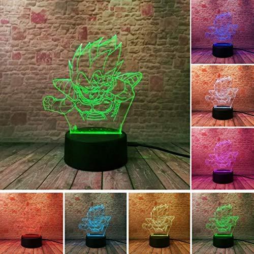 Klsoo Luz de noche Dragon Ball Monkey 3D Luz Nocturna Súper ...
