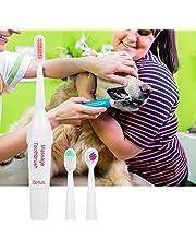 Köpek diş fırçası, evcil hayvan, elektrikli diş fırçası, diş bakım seti, köpek diş fırçası, 3 fırça başlığı ve ergonomik saplı, evcil hayvan için oral bakım bakım