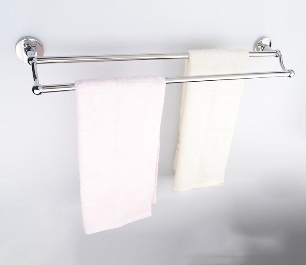 タオル掛け、ダブルタオル掛け(50cmミラー304ステンレス)モダンスタイルの壁掛け式バスルーム、 B07DNLHXN7