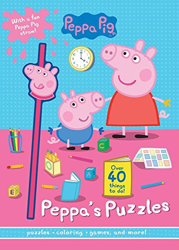 Peppa Pig Little Piggy Puzzles: With a Fun Peppa Pig Straw!