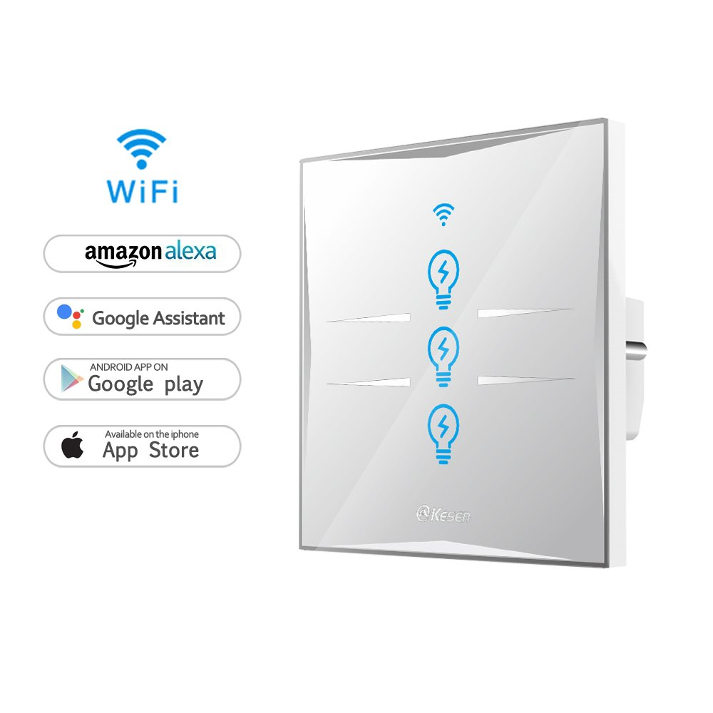 Wifi Smart Lichtschalter, WLAN In-Wall gehärtetes: Amazon.de: Elektronik