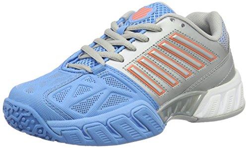 K-Swiss Performance Bigshot Light 3 Jnr Omni, Zapatillas de Tenis para Niñas Multicolor (Silver/blue/coral)