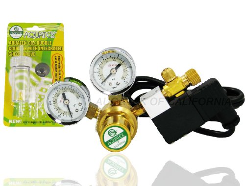 Basic AQUATEK CO2 Regulator with COOL TOUCH SOLENOID