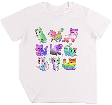 Orgullo Gatos Niños Chicos Chicas Unisexo Camiseta Blanco: Amazon ...