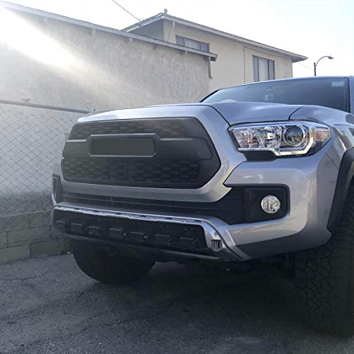 TRD Off-Road and Limited Grille Black SR SR5 Seven Sparta Front Grill for Tacoma 2016-2018 with Bonus Letters TRD Sport Including TRD PRO