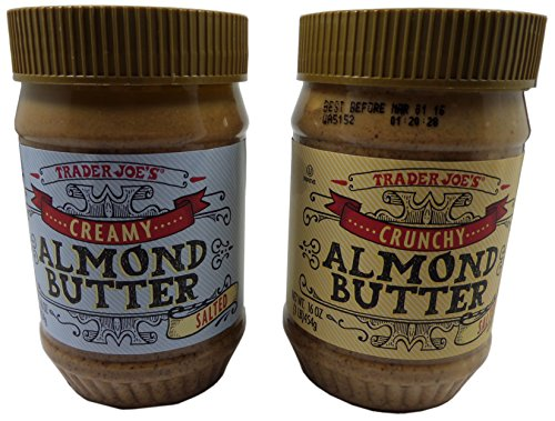 Trader Joe's Almond Butter Two Pack - Crunchy + Creamy Almond Butter Two Pack Salted - - Salted Butter