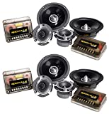 "Best Car Audio Component Speakers - 2 Pairs Rockville X6.5C Competition 6.5"" 1000 Watt Review"