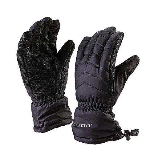 (SEALSKINZ Unisex Waterproof All Weather Lightweight Insulated Glove, Black, One Size)