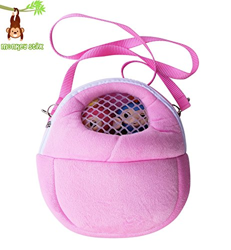 Monkey Case   Toy Compatible Carrying Case With Mesh Window   Fits All Kinds Of Toys   Interactive Baby Finger Monkey Compatible Case  Pink  Accessory Accessories