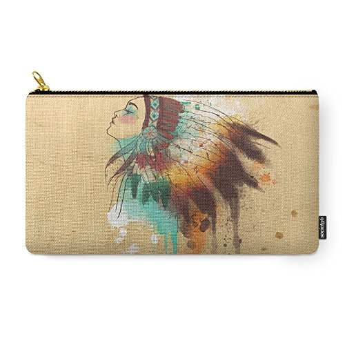 Society6 Native American Girl Carry-All Pouch Medium (9.5