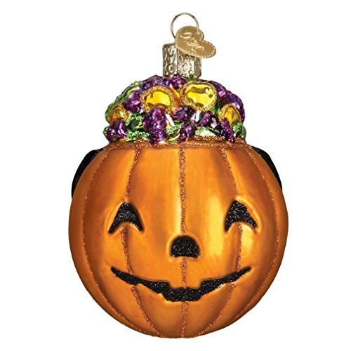 Old World Christmas Blown Glass Halloween Trick or Treat Pumpkin Ornament for $<!--$13.98-->